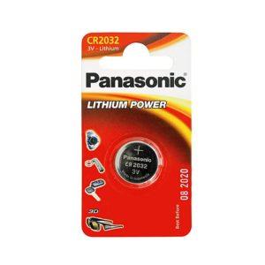 Элемент питания литиевый Panasonic, тип CR2032, дисковый (таблетка), 3В, 220мА*ч