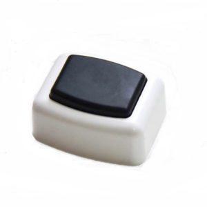 Кнопка звонковая прямоугольная белая 0,4А 230В, IP20