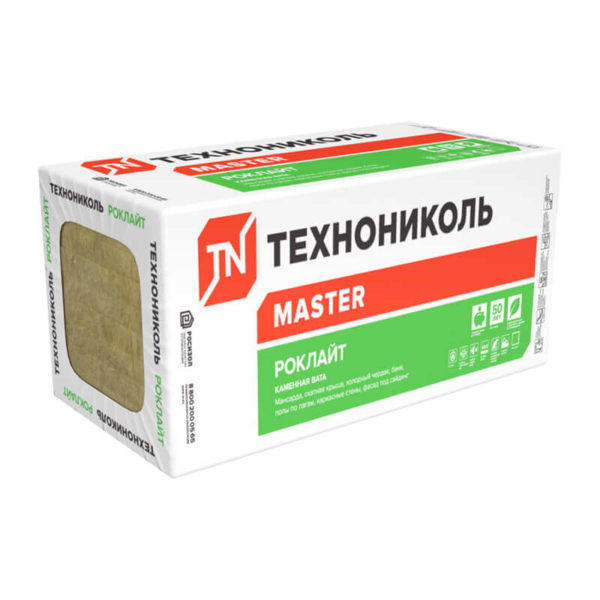 Утеплитель Технониколь Роклайт 1200х600х100 мм, 4 шт