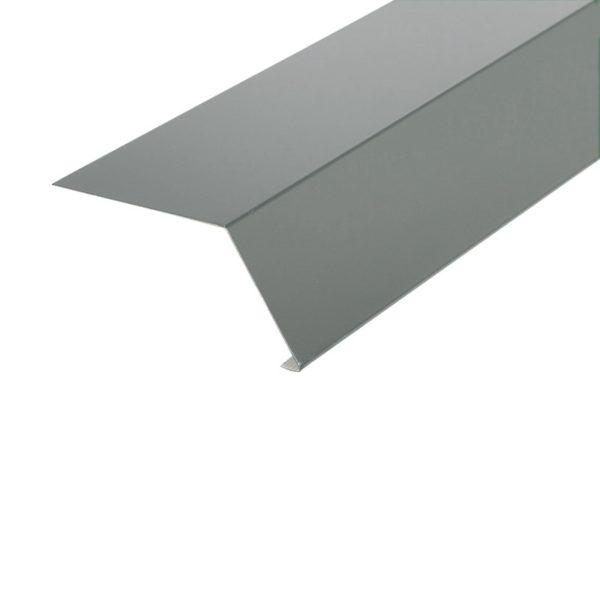 Планка карнизная для гибкой черепицы, серая (RAL 7004) (2 м)