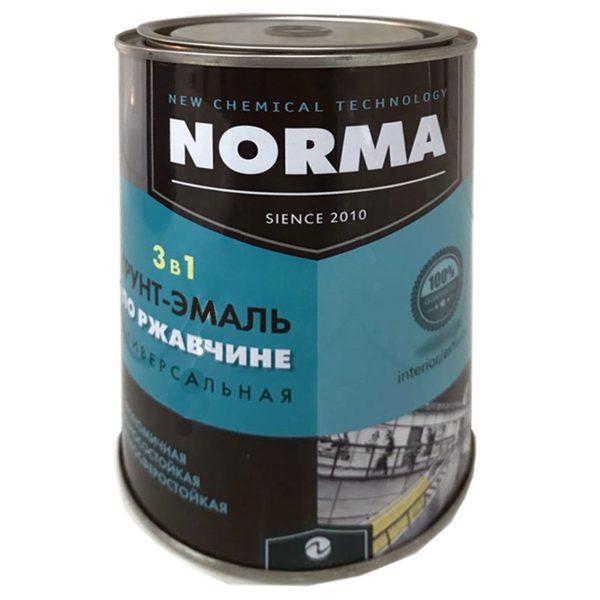 Грунт-эмаль 3 в 1 матовая черная (1 кг)