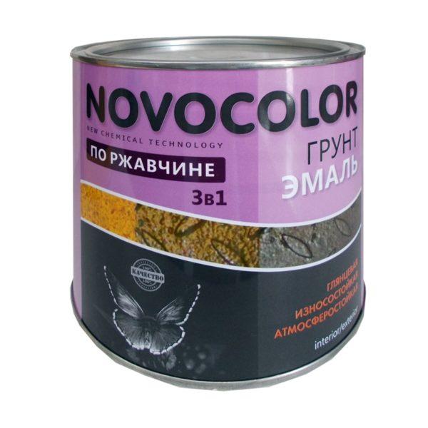 Грунт-эмаль 3 в 1 глянцевая черная (1,9 кг)