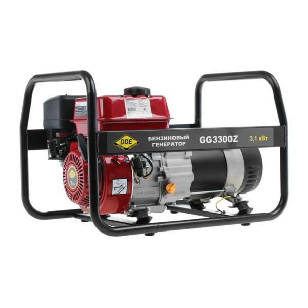 Генератор GG3300Z  2,6/3,0 кВт, бензиновый, бак 3,8 л