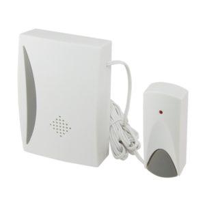 Звонок проводной, с кнопкой, 25 мелодий, белый, IP30