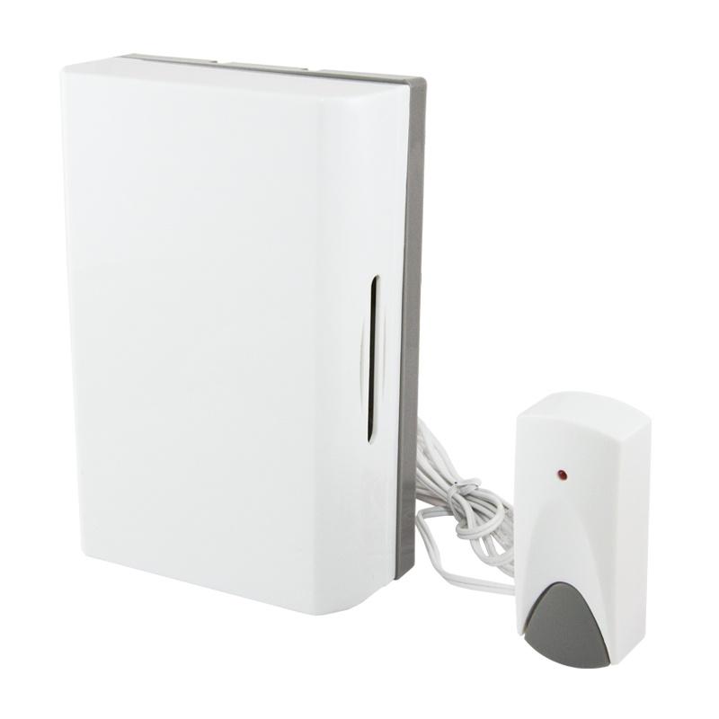 Звонок проводной, с кнопкой, 230В, э/механический, 1 тон, две стальные пластины, белый, IP30