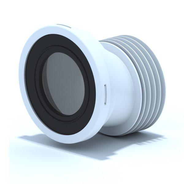 Манжета д/унитаза эксцентрическая жесткая d=110мм со смещением 20мм