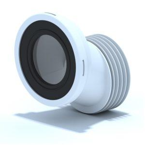 Манжета д/унитаза эксцентрическая жесткая d=110мм со смещением 40мм