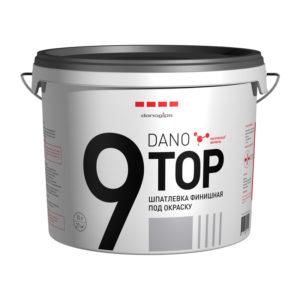 Финишная готовая полимерная шпатлевка Даногипс Dano Top 9, 10 л