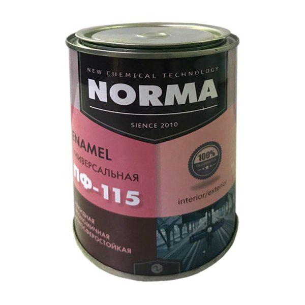 Эмаль ПФ-115 НОРМА, коричневая (0,9 кг)