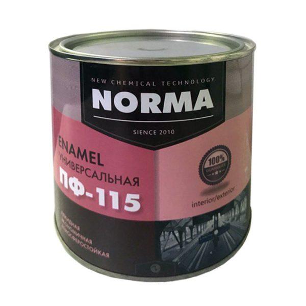 Эмаль ПФ-115 НОРМА, черная (1,9 кг)