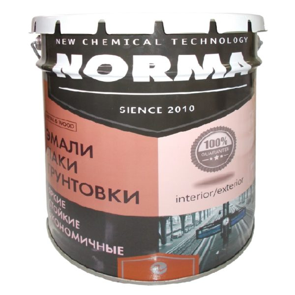 Эмаль ПФ-115 НОРМА белая матовая (25 кг) литография