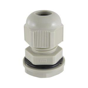 Сальник PG 7 для ввода кабеля d=3,5-6мм, нейлон, серый, IP54 (уп. 3шт)