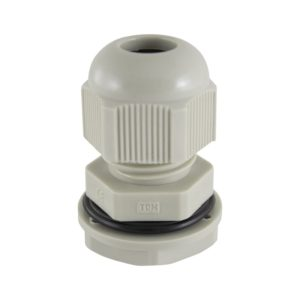 Сальник PG 9 для ввода кабеля d=4-8мм, нейлон, серый, IP54 (уп. 3 шт)