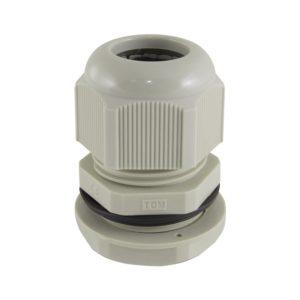 Сальник PG 16 для ввода кабеля d=10-14мм, серый, IP54 (уп. 2 шт)