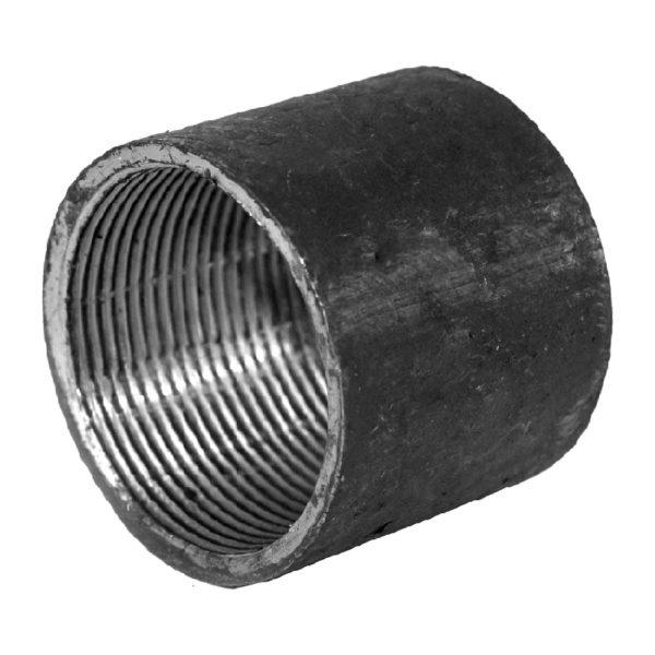 Муфта ДУ25 стальная 20, черная ГОСТ 8966-75