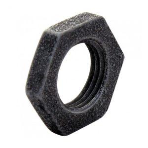 Контргайка ДУ15, чугунная черная