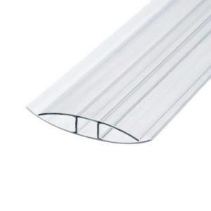 Профиль соединительный неразъемный для поликарбоната 6-8х6000 мм б/цв.