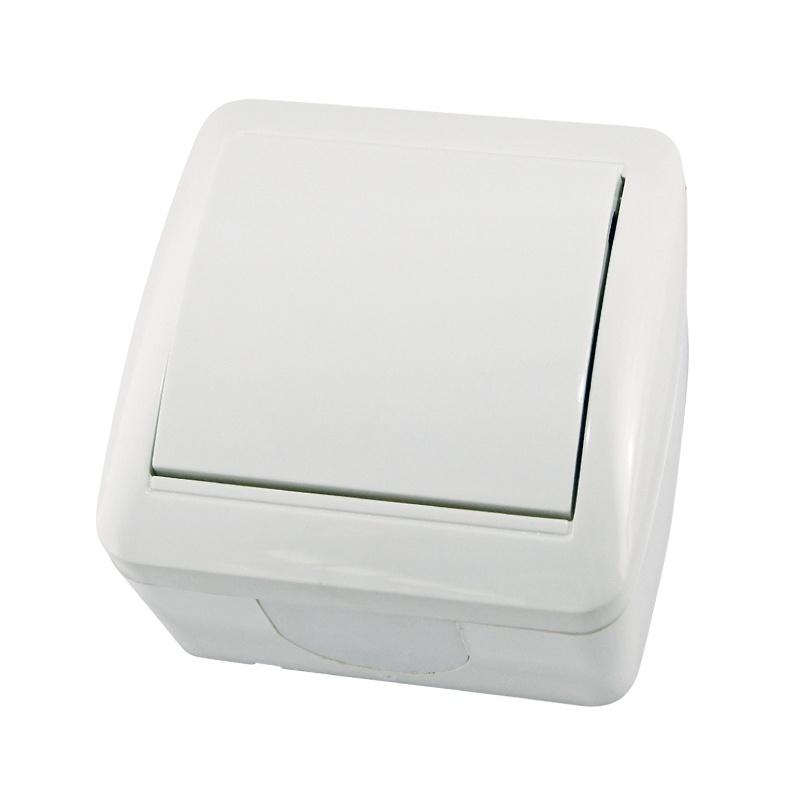 Выключатель о/у TDM Селигер SQ1818-0001, 1 клавиша, 10А, 230В, IP44, белый