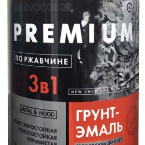 Грунт-эмаль 3 в 1 АЛКИДНО-УРЕТАНОВАЯ (АУ-1156) серая глянц. (1 кг)