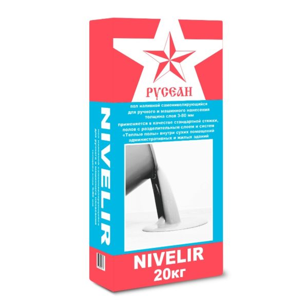 Наливной пол быстротвердеющий Русеан Nivelir (20 кг)
