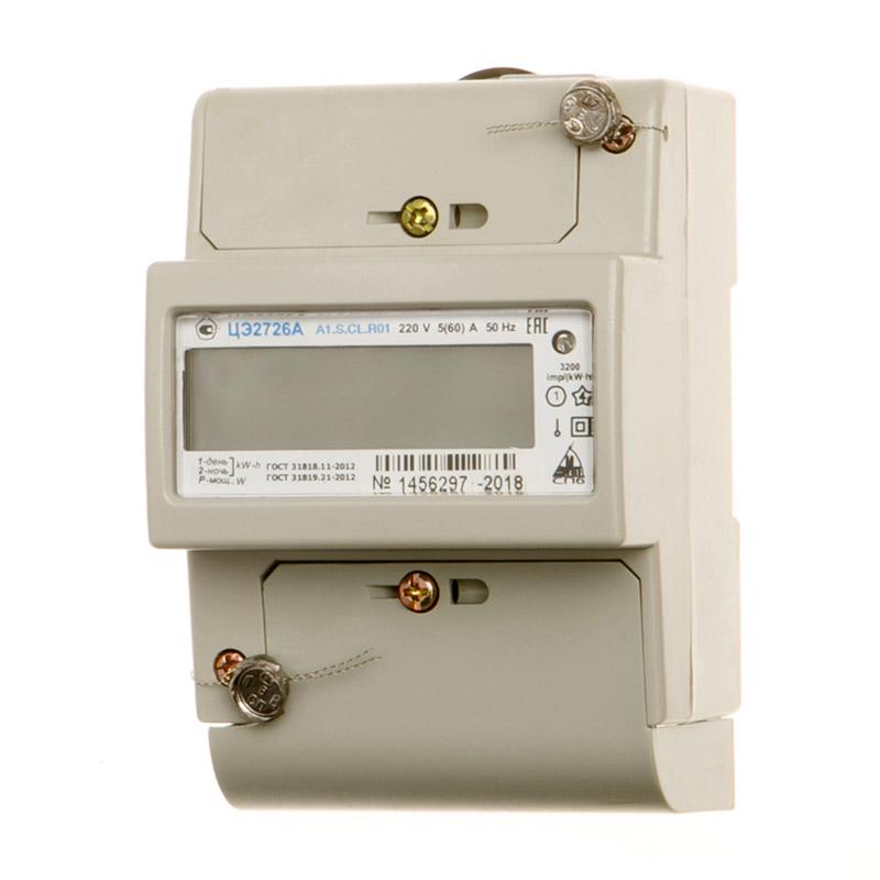 Счетчик электр. 5-60А, 230В, 1 кл.точн, 1 фазн, многотариф, ЖКИ, DIN-рейка,RS232, время MSK