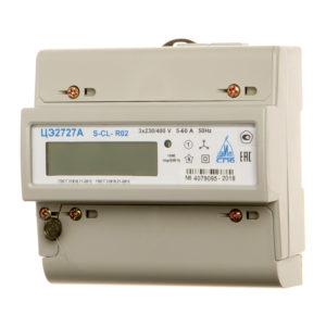 Счетчик электр. 5-60А, 3х230/400В, 1 кл.точн, 3 фазн, многотариф, ЖКИ, DIN-рейка,RS232, время MSK