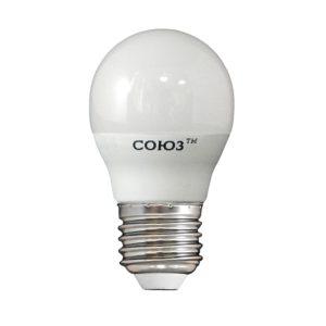 Лампа светодиодная LED E27, шар G45, 8Вт, 230В, 2700К, тепл. белый свет
