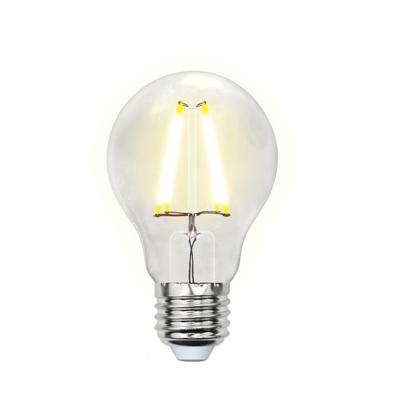 Лампа филаментная LED E27, груша А60, 8Вт, 230В, 3000К, тепл. белый свет